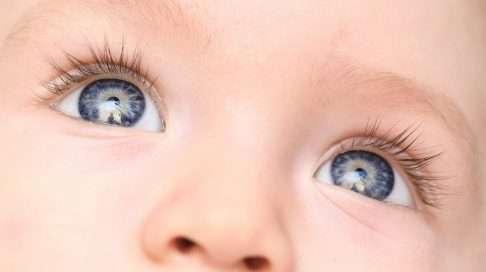 Näköaistin kehitys on voimakasta ensimmäisten kuukausien ajan – tarkentaminen ja värien erottelukyky kehittyvät huimalla vauhdilla! Kuva: iStock