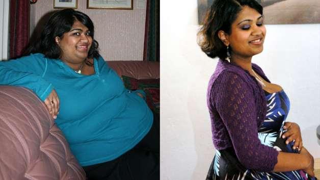 Monica ennen ja jälkeen lihavuusleikkauksen. (Kaikki kuvat Monican valokuvakansiosta)