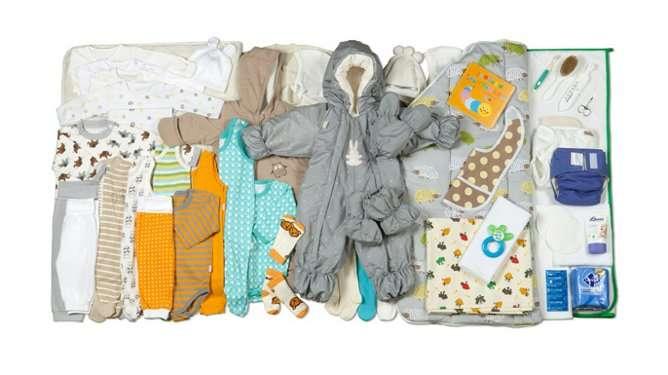 Tällainen on Suomen valtion lahja Britannian kuninkaalliselle vauvaperheelle. (Kuva: Annika Söderblom / Kela)