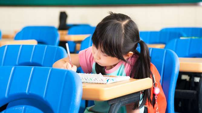 Lapsen menestystä pidetään tärkeänä Kiinassa. (Kuvituskuva: Crestock)