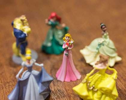 Prinsessat-kalenteri sisältää ainoastaan 6 hahmoa.