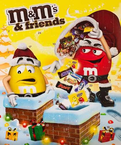 M&m-kalenteri sisälsi kalenteritestiin valituista kalentereista eniten suklaata. Tämä teki kalenterista varsinkin 2-vuotiaan Antonin suosikin.