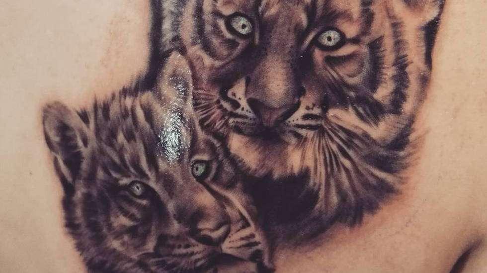 """""""Olen kiinalaiselta horoskoopiltani tiikeri, joten ajatus tiikerinpennuista tuli siitä"""", Katri kertoo."""