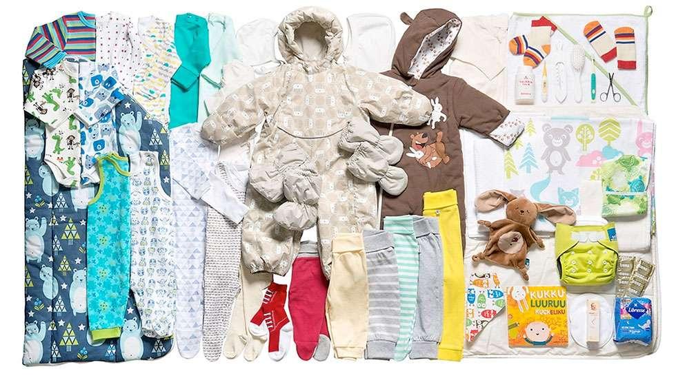 Raikkaita värejä, puolipotkuhousuja ja uutuutena unipupu – muun muassa niistä on vuoden 2016 äitiyspakkaus tehty!