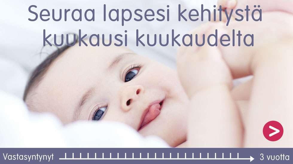 Vauvan kehitys kuukausi kuukaudelta