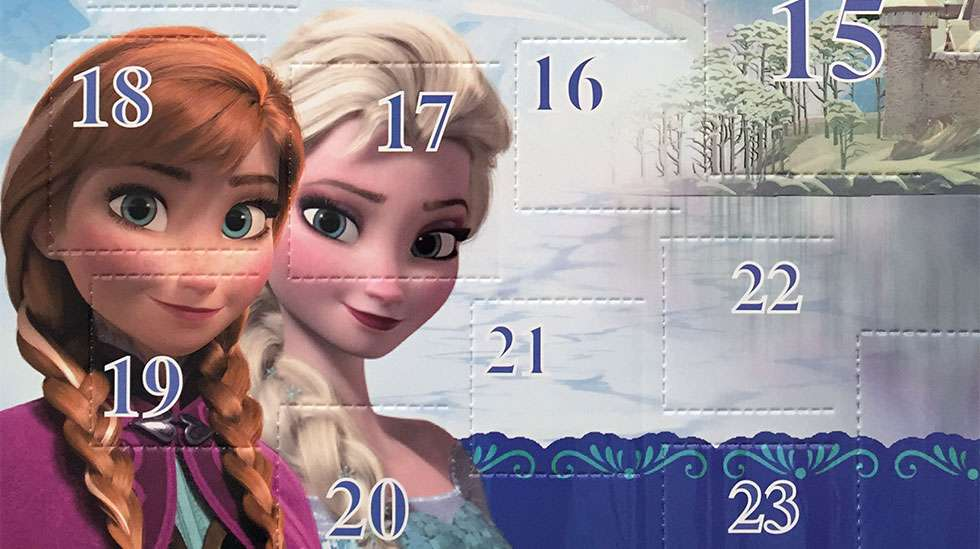 Frozen-joulukalenterin kansikuva