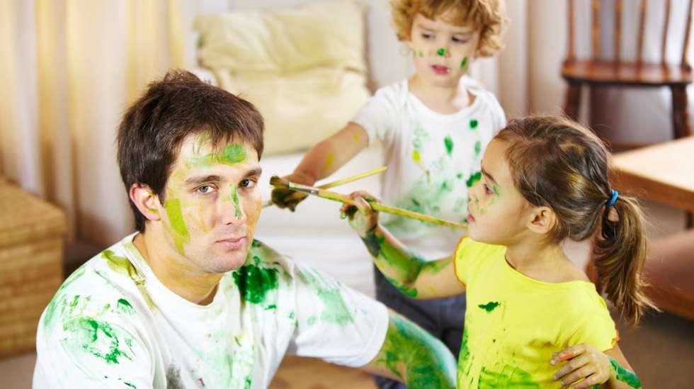 Hän ehkä toivoi hieman vähemmän taiteellisia lapsia. Kuva: iStock